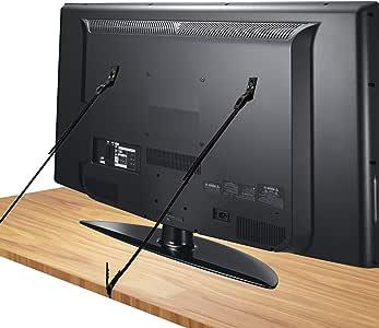 Juego de 2] Correas de Seguridad Resistentes,Canwn Correa sujeción Televisor 70cm Ajustable Correas Antivuelco de TV/muebles con Tornillos de Distinto Tamaño para Tele(Negro): Amazon.es: Bebé