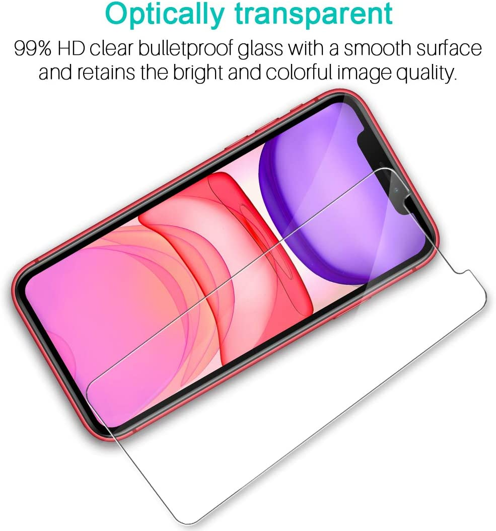Anti-Scratch Tempered Glass 9H HD Clear Natural Touch Double Defence Technology Case Friendly 3 Pack LK Screen Protector for iPhone XR 6.1 inch Alignment Frame Easy Installation