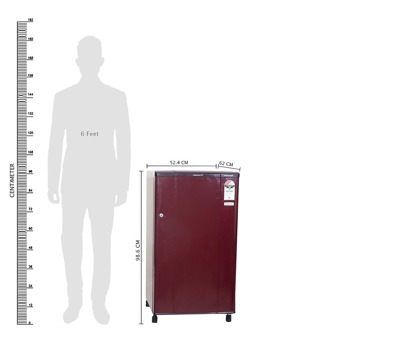 Videocon 150 L 3 Star Direct Cool Single Door Refrigerator(VA163B, Red)