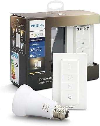 Philips Hue White Ambiance - Pack de bombilla LED E27 con mando ...
