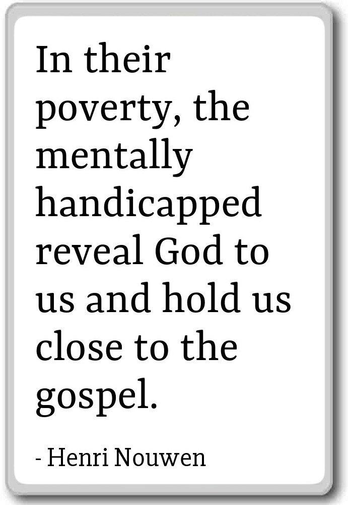 Amazon.com: In their poverty, the mentally handicapped rev ...