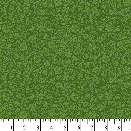 - Evergreen Floral Cotton Fabric by The Yard