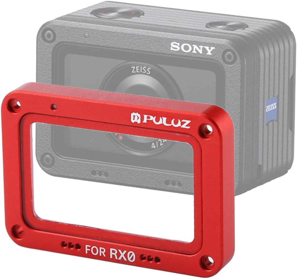Black MEETBM Aluminum Alloy Flame with Screws and Screwdrivers XIAOMO Color : Red Tempered Glass Lens Protector for Sony RX0 // RX0 II