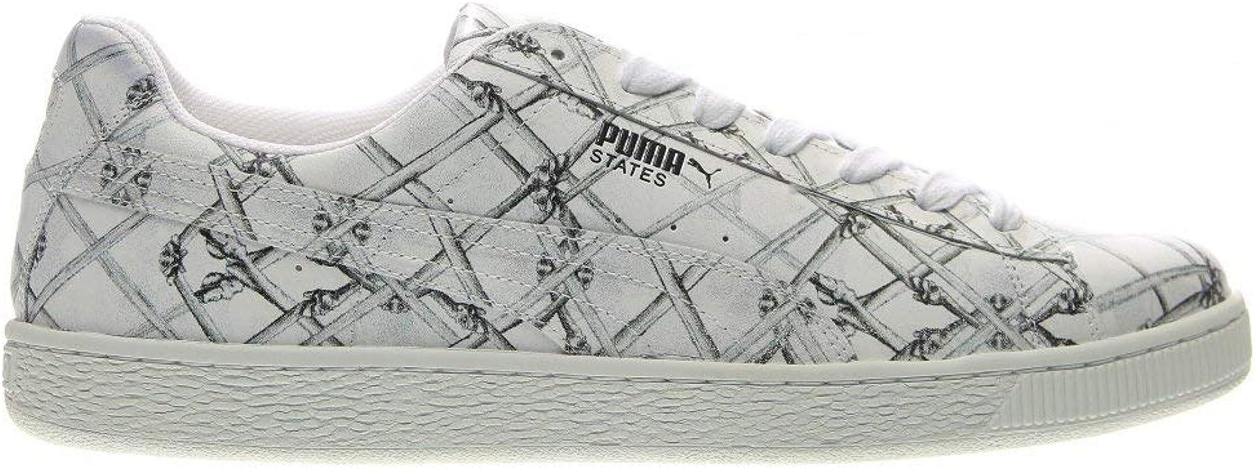 Puma States X Swash Bones Uomo US 9.5 Bianco Scarpe