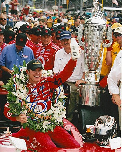 Scott Dixon Signed Photo - 8x10 INDY 500 TROPHY MILK IRL INDY COA - Autographed NASCAR Photos ()