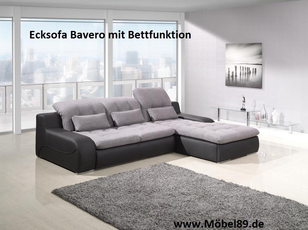Ecksofa Bavero mit Bettfunktion Eckcouch Sofa Couch online kaufen