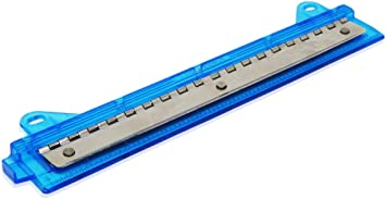 Portable 3 Hole Paper Punch with Ruler-Assorted Colors Bonus Pencil