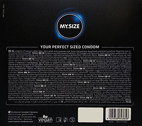 My Size Condoms My Size 69Mm Condoms 36 Pack