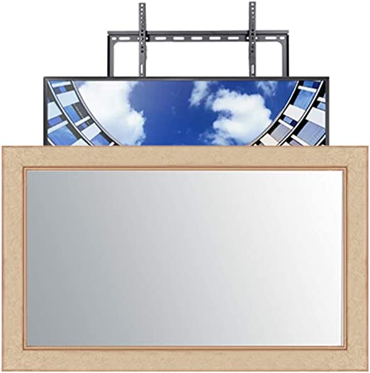 Frame Your TV Essentials - Marco de Espejo para televisor (Hecho a Mano, Incluye Soporte de Pared para Samsung X TV ...