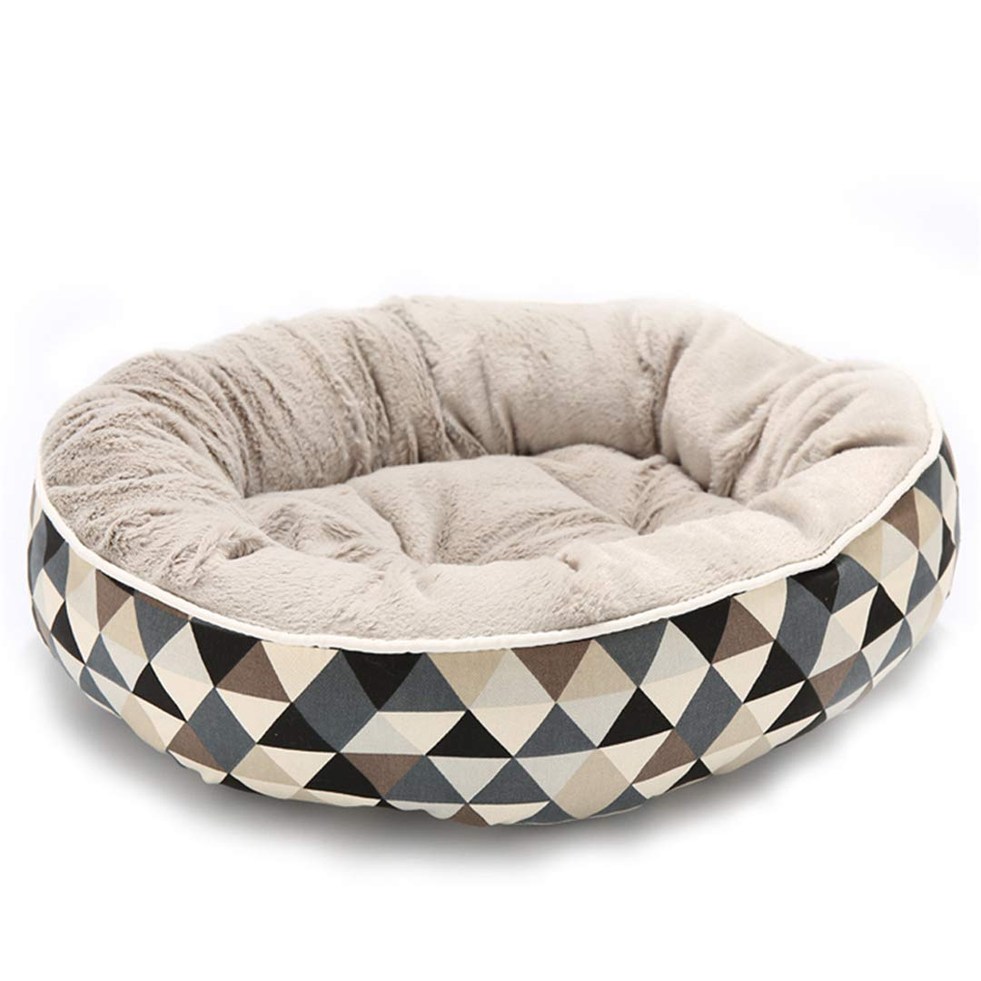 Brown S 45x35x15cmWashable Dog Beds for Small Large Dogs Pet Kennels Beds Cat House Sofa Mat Plaid Pets Puppy Bed House Dog