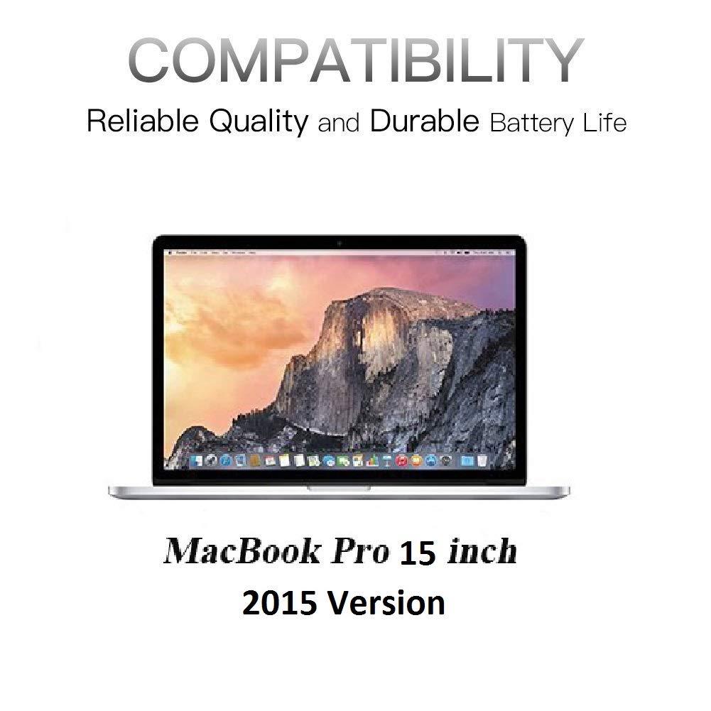 HUSAN Compatible A1618 Laptop Battery Replacement for MacBook Pro 15'' A1398 Retina (2015 Version), Fit 020-00079 MJLQ2LL/A MJLT2LL/A by HUSAN (Image #5)