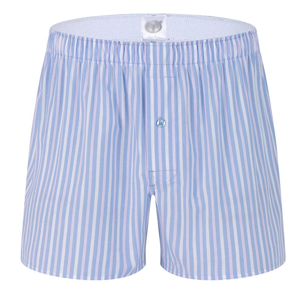 Yuanu Hombre Pantalones de Pijama Algodón Pantalones de Pijama Rayas Shorts Ropa de dormir: Amazon.es: Ropa y accesorios