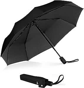 Outdew Compact Travel Umbrella Windproof - Auto Open Close Button umbrellas