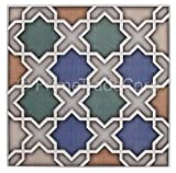 Moroccan Tile Box of 4 - These Moorish Style Tiles Exhibit Magnificent Artistry When Laid in Any Residential or Business Space. This 100% Money Back Guarantee Tile Creates a Fabulous Effect on Living Area Walls, Floors, Showers, Vanities, Fountains.