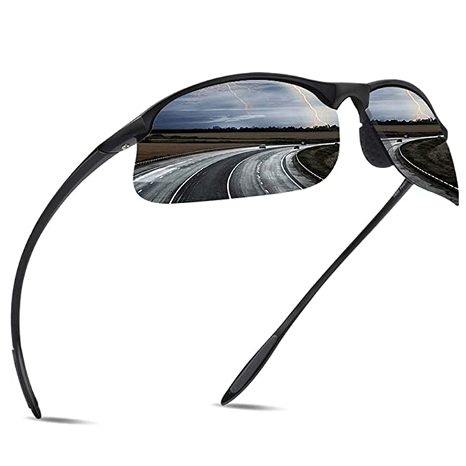 fcf7b0c3a0 Image Unavailable. Image not available for. Color  JULI Polarized Sports  Sunglasses for Men Women ...