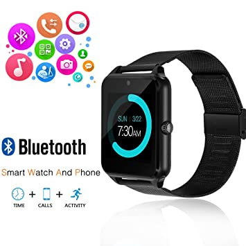 Amazon.com: Smart Watch, GEEKERA Bluetooth Watch Wristwatch ...