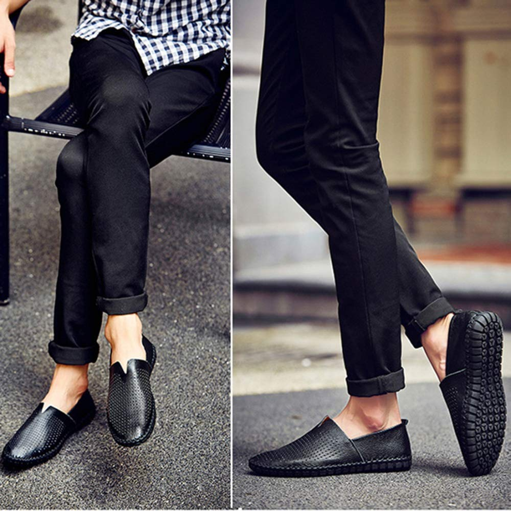 AHELMET Männer Casual Komfortable Atmungsaktive Faule Faule Faule Schuhe Segelschuhe Sandalen Fahren Schuhe Vier Jahreszeiten Lofo Schuhe (Farbe   schwarz1, größe   48EU) e9e138