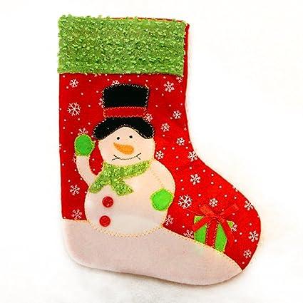 Xuanhemen Papá Noel y muñeco de nieve Tarjetas de regalo de calcetines de Navidad Decoración de