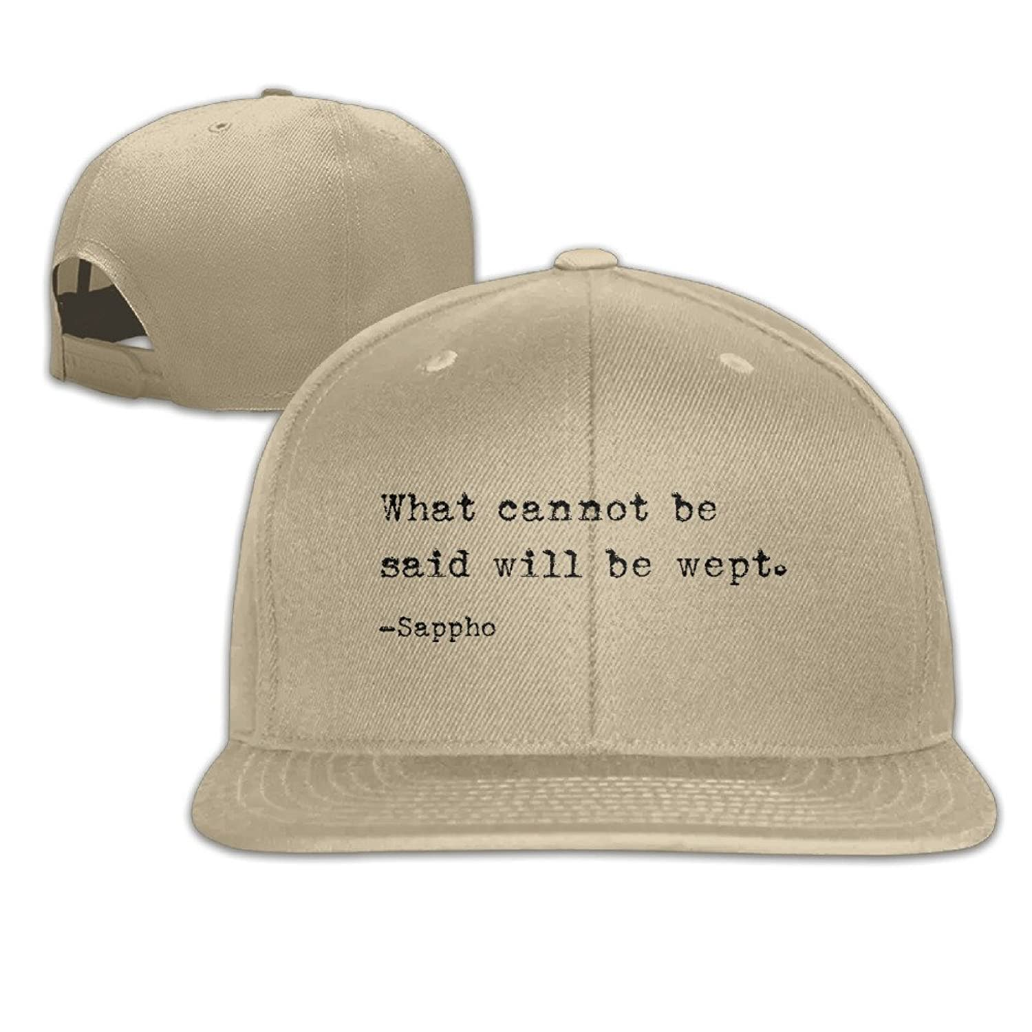 What Cannot Be Said Will Be Wept Boy's Solid Cap