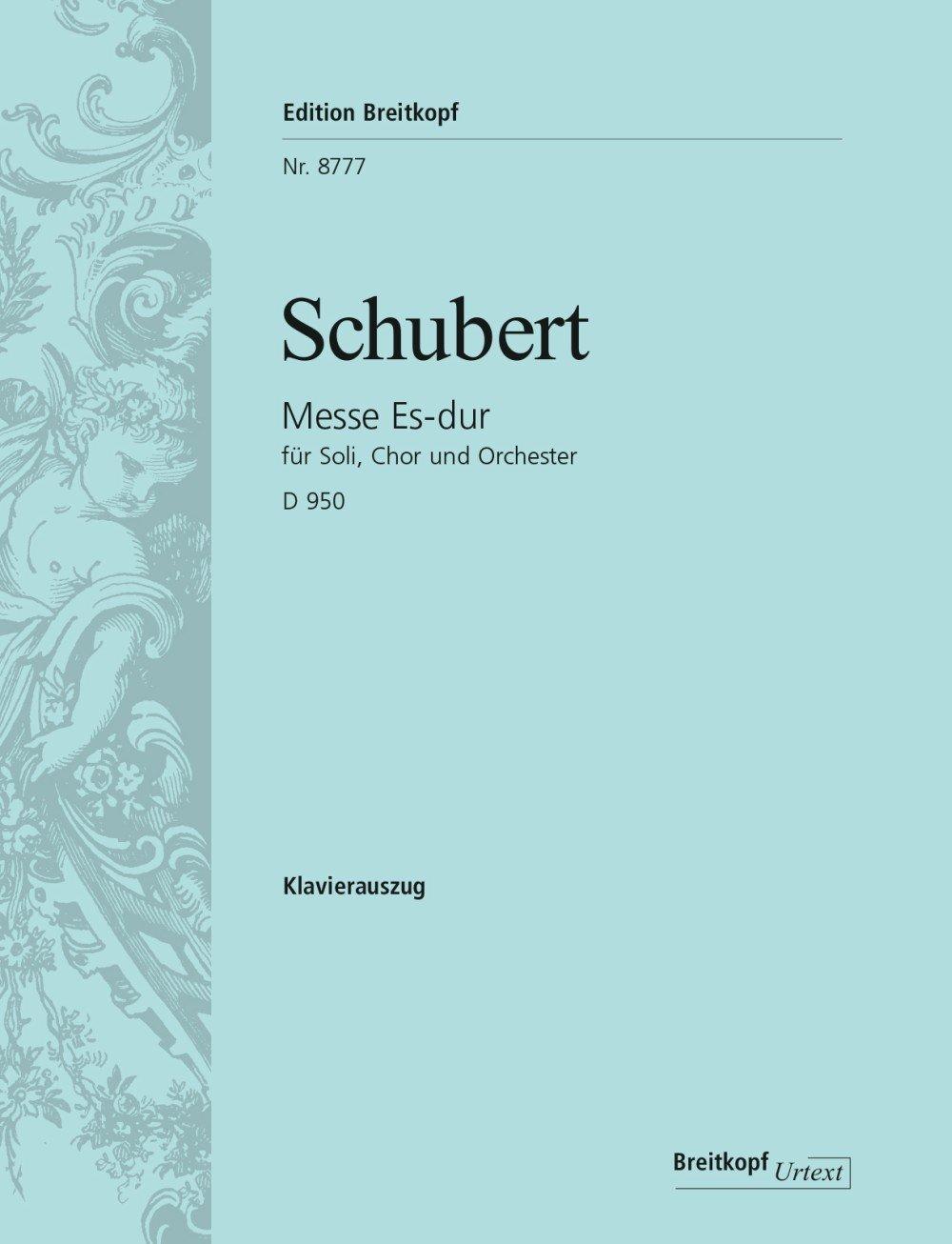 Messe Es-Dur d 950 (Allemand) Partition – 1 janvier 2000 Franz Schubert Breitkopf B000AFDXNG Geisteswissenschaften
