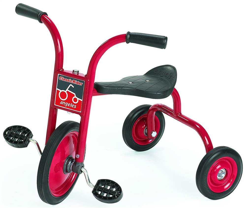 10 in. Pedal Pusher Trike in Red and Black - Set of 2 by Angeles