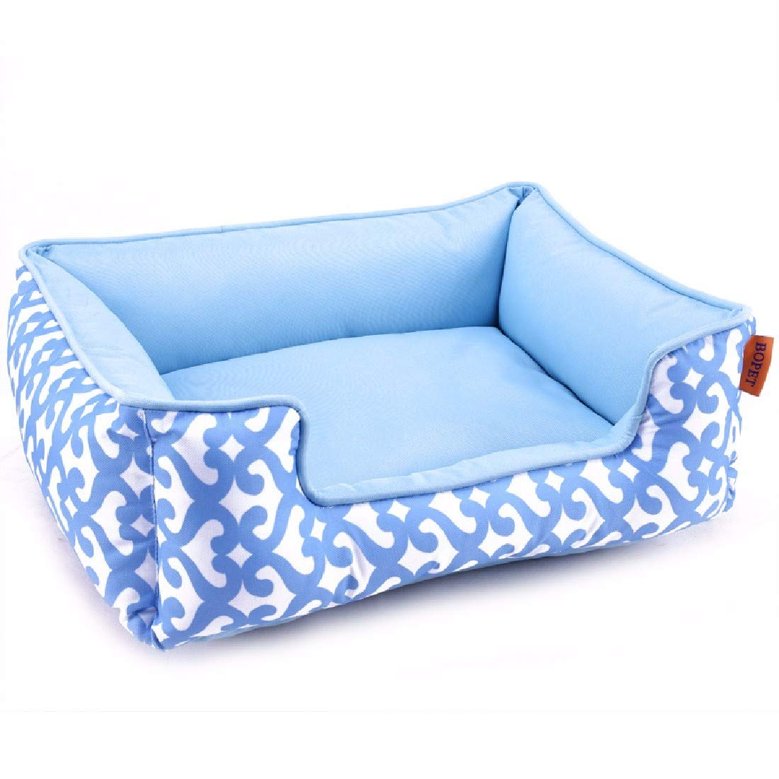 bluee S 48x40x18 bluee S 48x40x18 Pet Dog Cat House Bed Dog and cat Litter can be Cleaned and Washed Dog Kennel Small Kennel General Kennel,bluee,S 48x40x18
