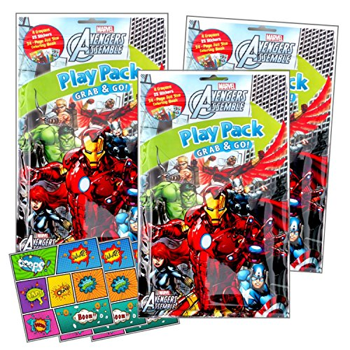 Avengers Coloring Pack Party Activity Favors with Stickers,