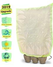 Tvird Cappuccio Protezione Piante, Sacco di Protezione Invernale per Piante Verde, Non Tessuto Protezione Antivento Traspirante Non Assorbente Telo di Protezione Antigelo per Inverno【180 * 120CM】