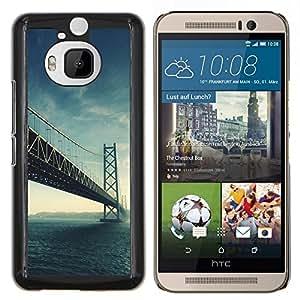 LECELL--Funda protectora / Cubierta / Piel For HTC One M9Plus M9+ M9 Plus -- Arquitectura EE.UU. Hermosa San Fran Puente SF --