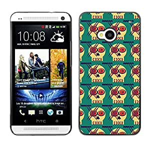 ZECASE Funda Carcasa Tapa Case Cover Para HTC One M7 No.0002275