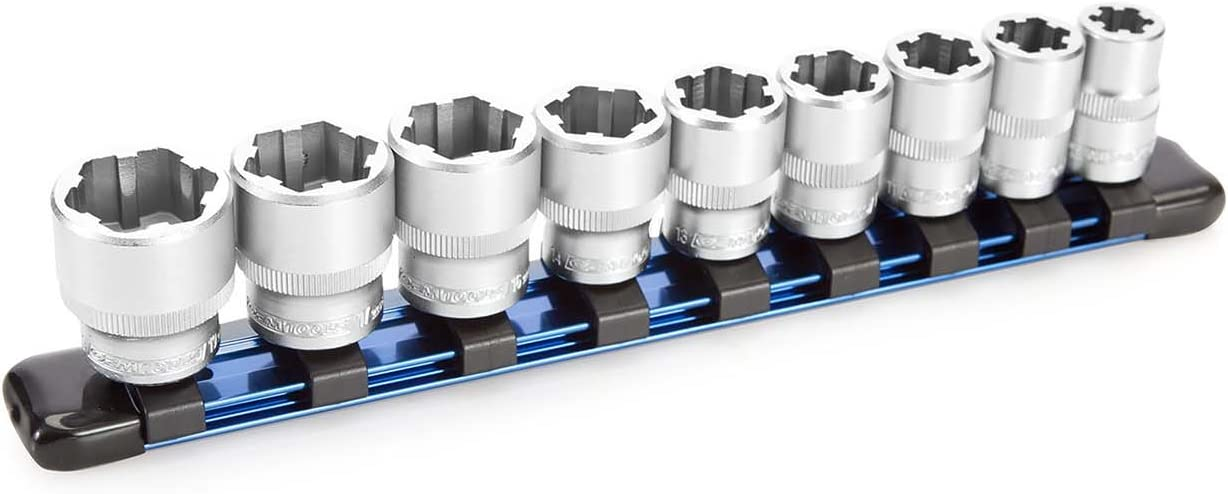 """OEMTOOLS 22967 9 Piece Nut Busting Bolt Extractor Socket Set - 3/8"""" Drive Metric"""