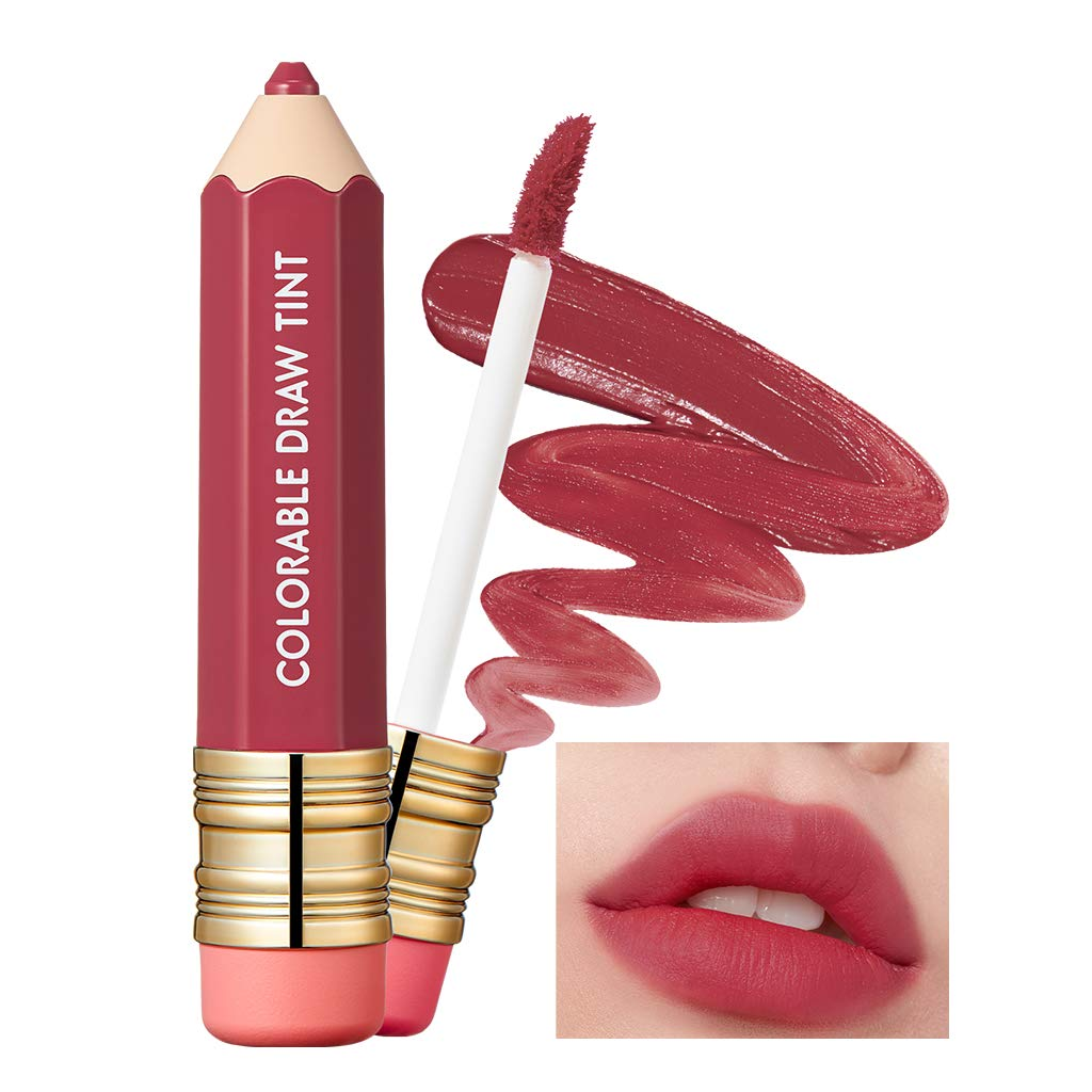 It'S SKIN Colorable Draw Tint 3.3g 10 Colors - Cute Crayon Velvety Lip Tint Lipstick with Matte Finish, Air Light Formula with Long Lasting Intense and Vibrant Color (07 Retro Nude)