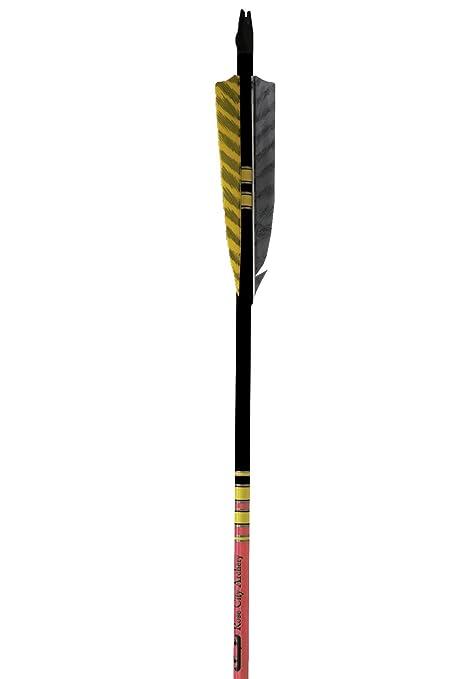 12-Pack Rose City Archery Port Orford Cedar Fancy Arrows with 5-Inch Length Shield Cut Fletch