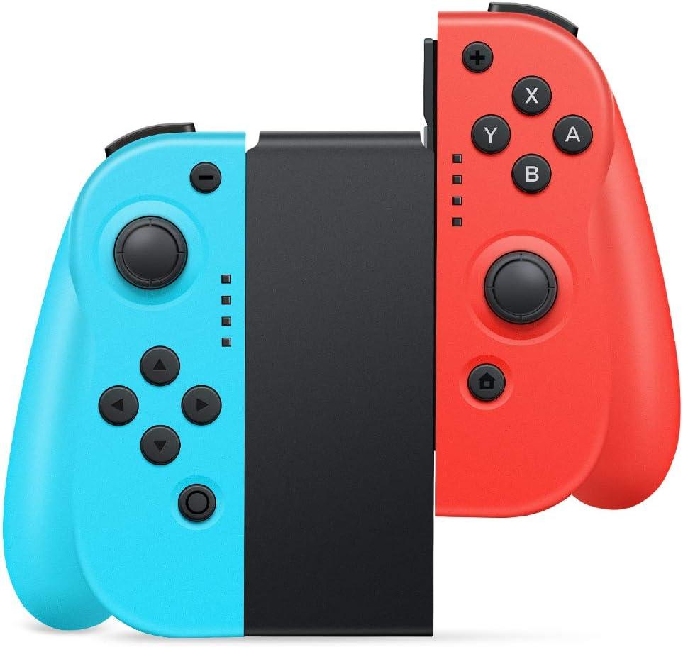 Mandos para Nintendo Switch,Timoom Bluetooth Wireless Controller Gamepad Joystick Controlador De Reemplazo Izquierdo Y Derecho para Joy Con.