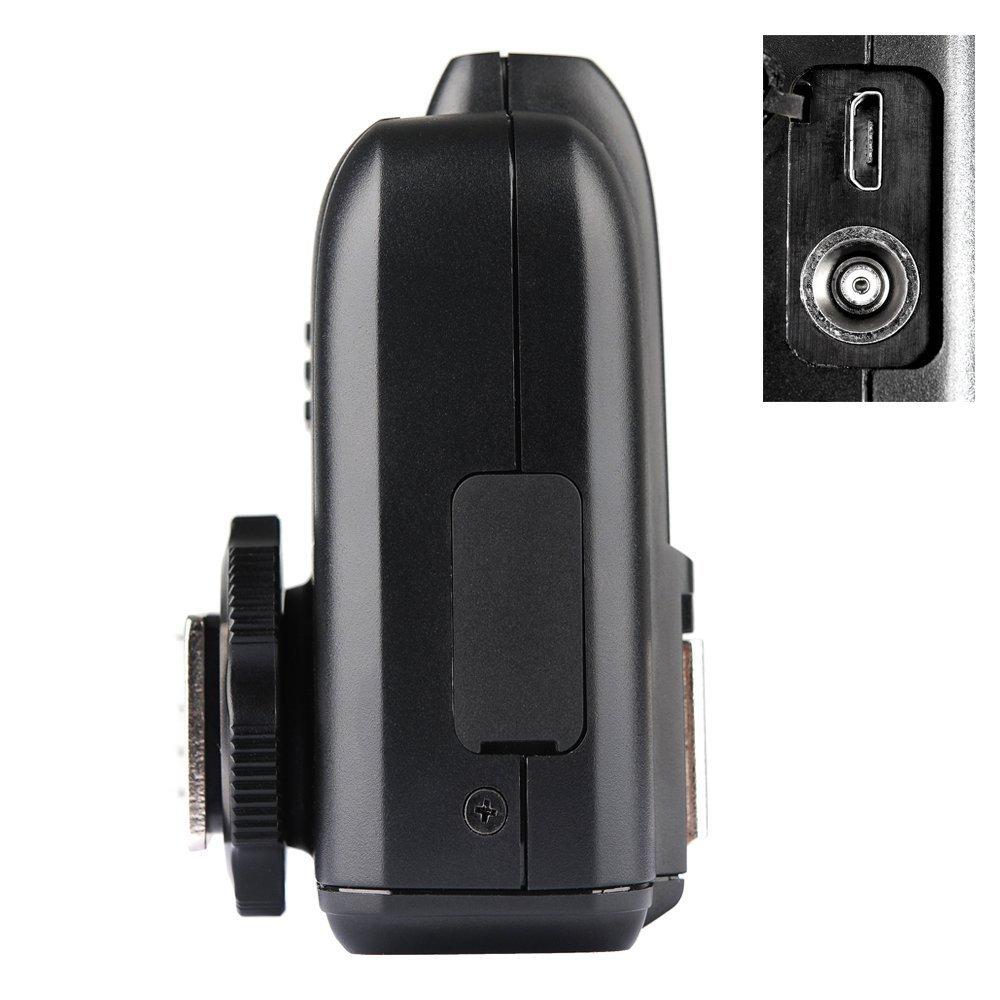 Godox X1N i-TTL Wireless 2.4 G Flash Remote Trigger Transmitter Compatible for Nikon Cameras (X1T-N) + CONXTRUE USB LED