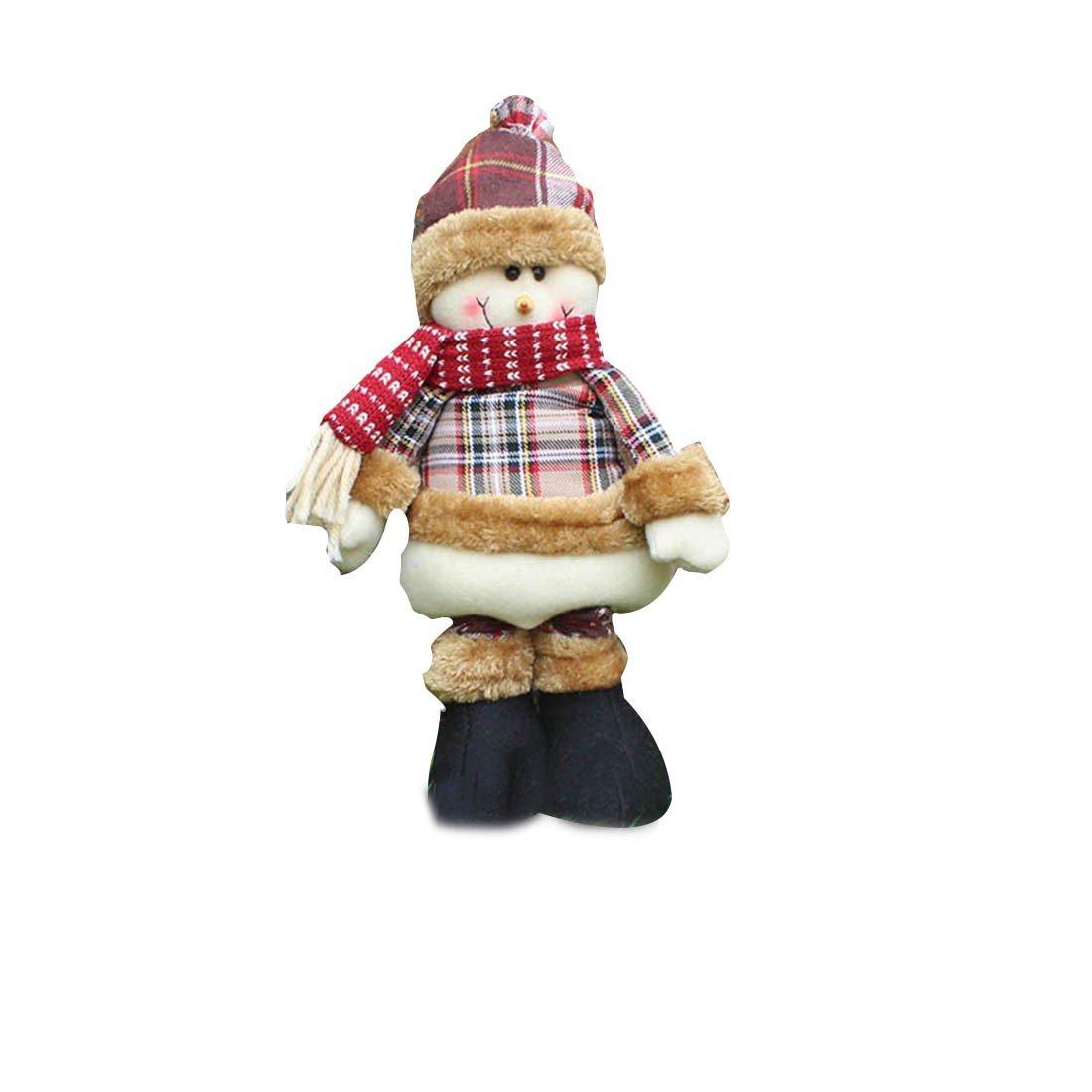 Telesc/ópica Santa Claus Adornos de Navidad Escena Puntales mu/ñecas de regalo Accesorios-Elk