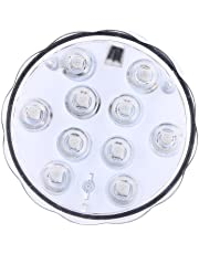 RGB LED Submersible Lights Waterproof Multi-Color Setting Battery Powered Underwater Lights with IR Remote Control