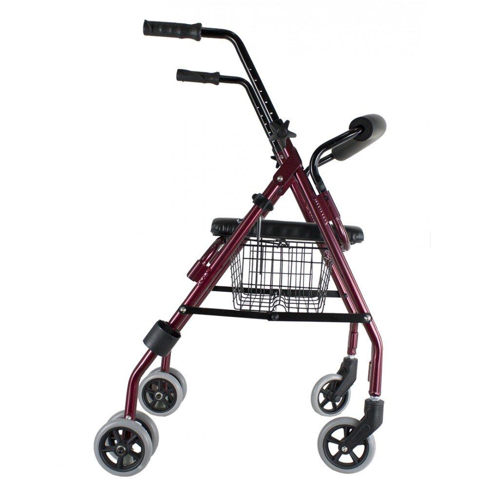 Andador Rollator de Aluminio con Frenos de Presión Ortaid: Amazon.es: Salud y cuidado personal