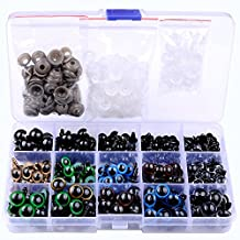 264pcs 6-12mm Black Plastic Safety Eyes 10/12mm Colorful Safety Eyes Teddy Bear Doll Animal Crafts