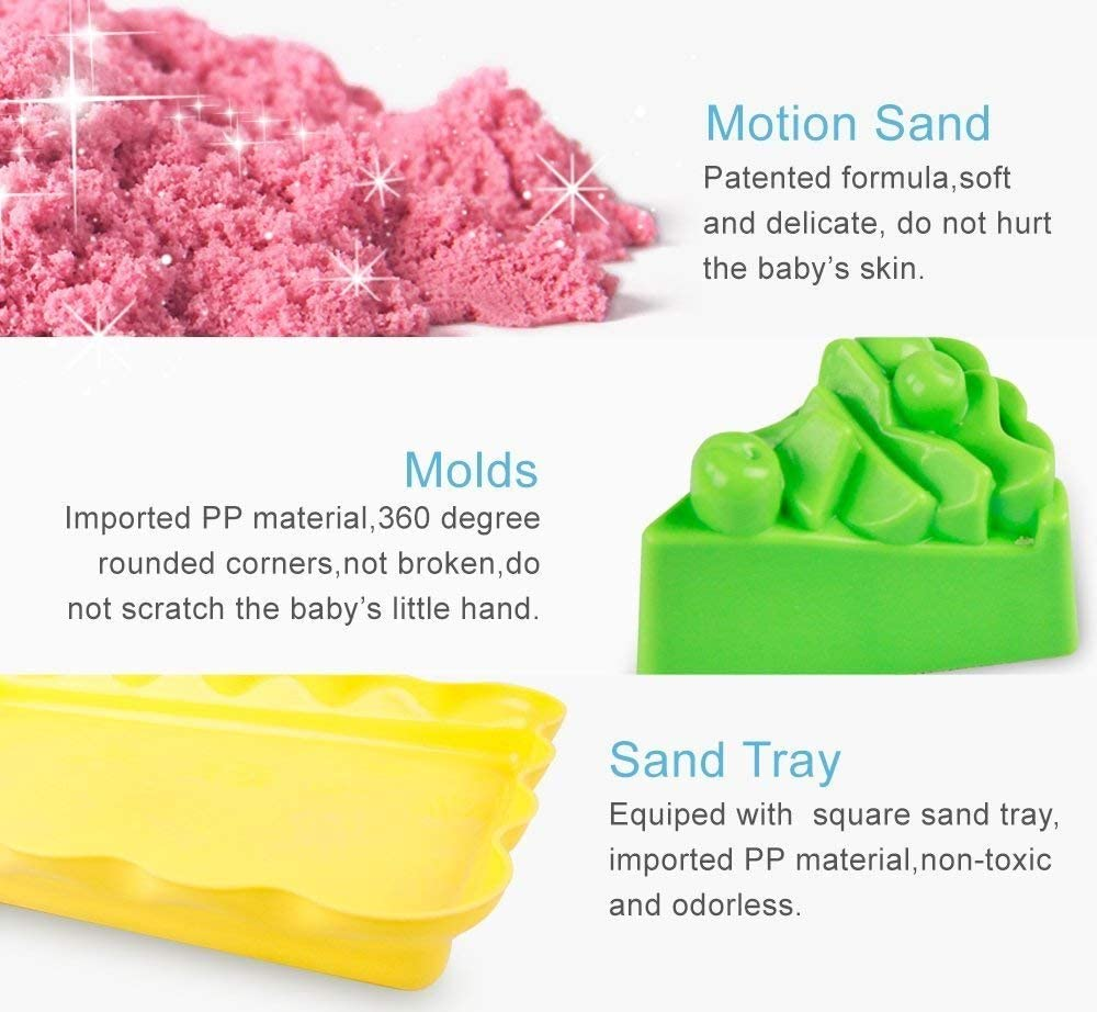 Toytexx 3000g Kinetic Sand Two molds
