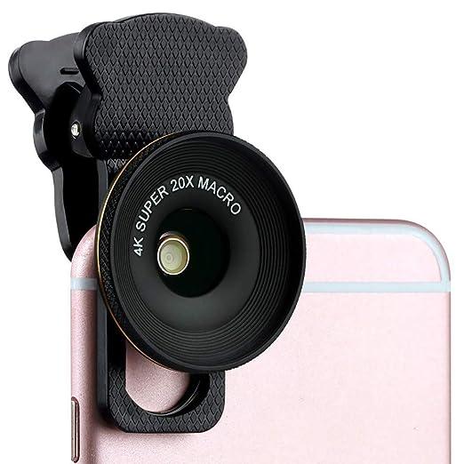 ZYHA Lente móvil Universal portátil 60mm Smartphone Lente Macro ...