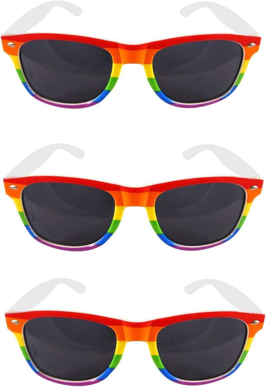 MBB RAINBOW SUNGLASSES FANCY DRESS 1 Pair GAY PRIDE LBGT CARNIVAL FESTIVAL PARTY GLASSES