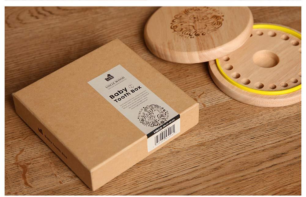 Holz Milchz/ähne Box Zahnbox Z/ähnedose Haar Holzdose Jungen M/ädchen Souvenir Box Weihnachten Geschenk Aufbewahrung Keepsake Box Z/ähne Kasten Baby Milchzahndose Box OrganizerMilchz/ähne Z/ähne Box