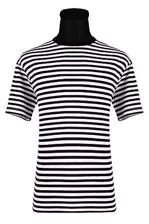 f623dfb0857862 Thetru Herren Ringel Shirt Kurzarm schwarz-weiß Karneval Fasching Gr ...