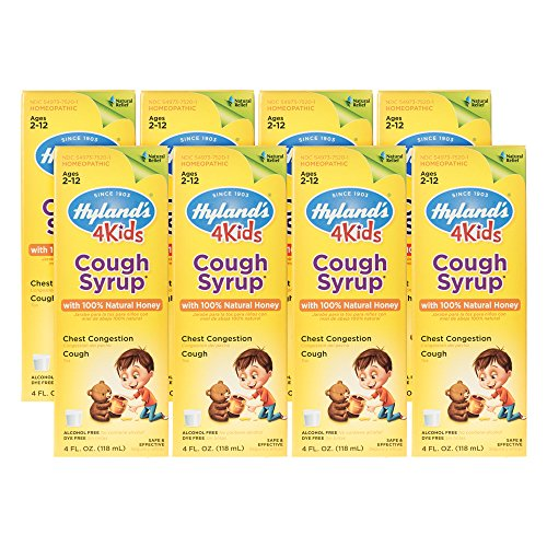 Hyland's Cough Syrup with 100% Natural Honey 4 Kids 4 oz ( Pack of 8)