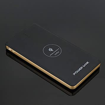 LarKoo - Cargador inalámbrico portátil de 20000 mAh, Cargador 3 en 1 con Puerto USB Tipo C, baterías externas para Dispositivos con Qi habilitado ...