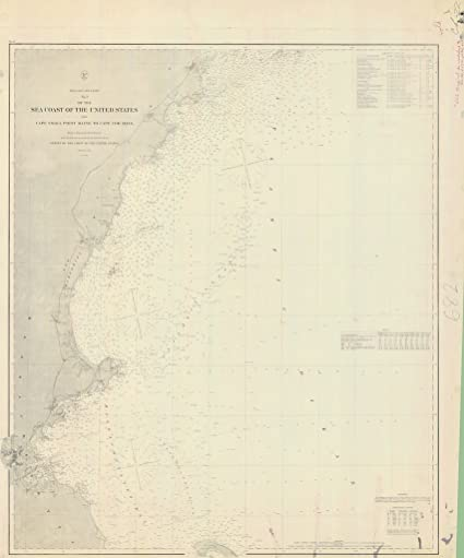 Amazoncom Vintography 8 X 12 Inch 1868 Us Old Nautical Map - Cape-cod-on-us-map