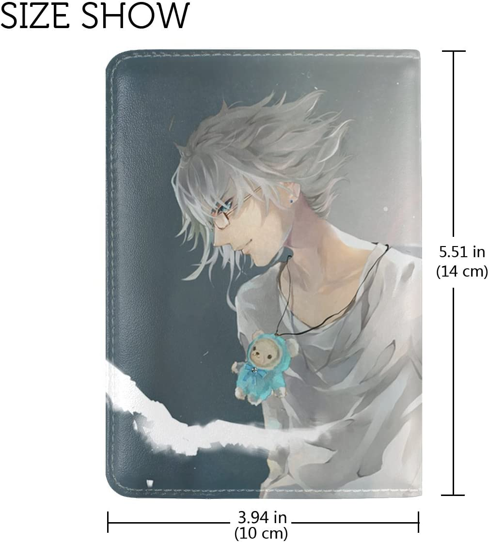Anime Girl Angel Wings Leather Passport Holder Cover Case Travel One Pocket