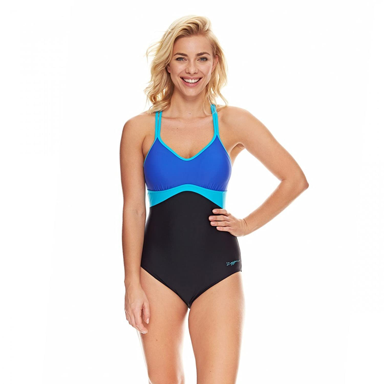 Zoggs Damen Badeanzug -Bawley Cross Back- Schwimmanzug, Schwimmen, Baden