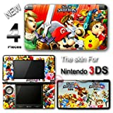 Super Smash Bros Mario Zelda Pokemon SKIN STICKER DECAL COVER for Nintendo 3DS
